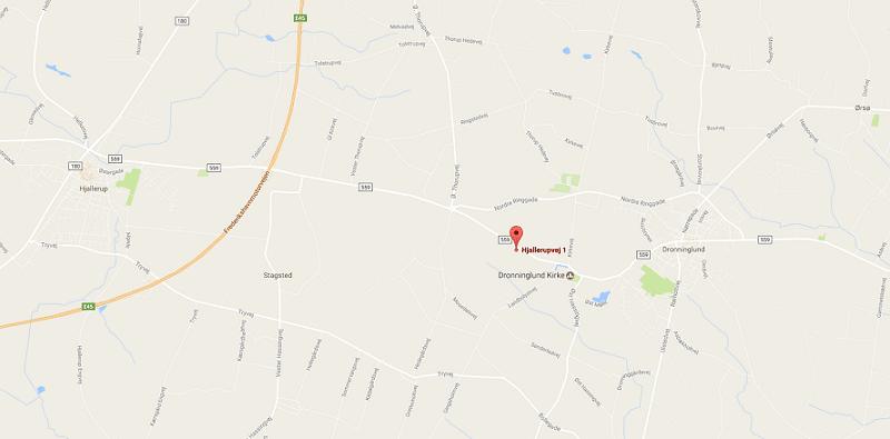 Google Map - BilligRionet.dk - Dronninglund Landhandel